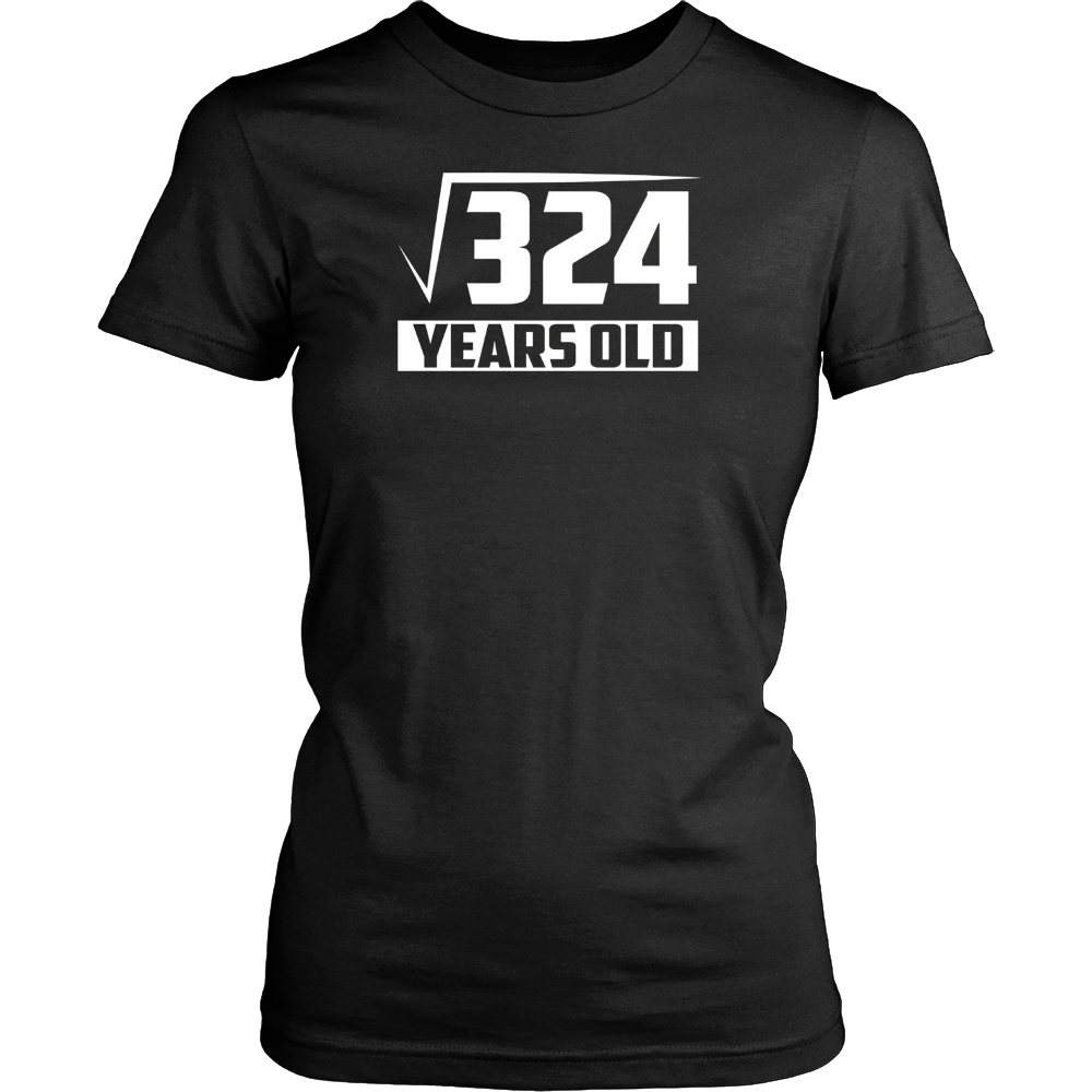 18 Years Old Square Root - Funny 18th Birthday Gift T-Shirt Hoodie - Tank-Top