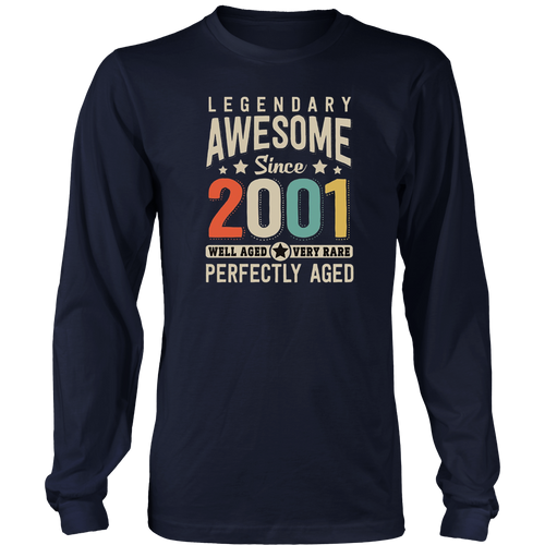 Awesome since 2001 17th Birthday T Shirt 17 Years Old Hoodie - Tank-Top