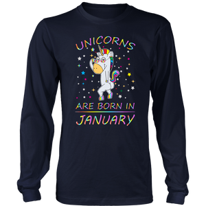 Unicorns Are Born In January Gift T-Shirt