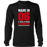 11th Birthday Gift T-Shirt Made In 2006 Awesome 11 years old Quotes Hoodie