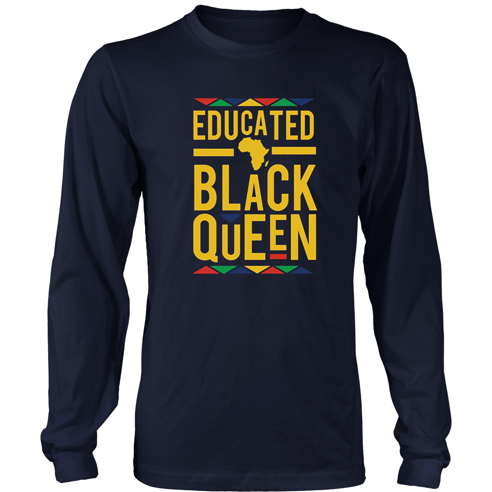 Dashiki Educated Black Queen Shirt - African DNA Pride Shirt