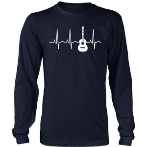 Acoustic Guitar Heartbeat Shirt - Guitar Musician T-Shirt - Bornmay