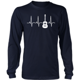 Acoustic Guitar Heartbeat Shirt - Guitar Musician T-Shirt - Bornmay Quotes Hoodie