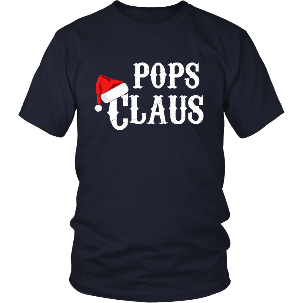 Pops Claus - Funny Holiday Christmas Gift Tee