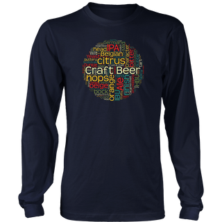 Craft Beer T-Shirt with 100+ Beer Terms for Microbrew Lovers