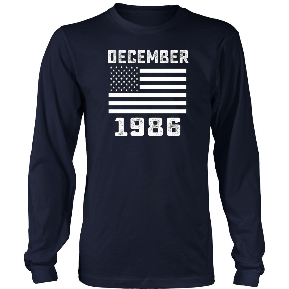 American Flag December 1986 - 31 Years Old 31st Birthday Shirt Hoodie - Tank-Top