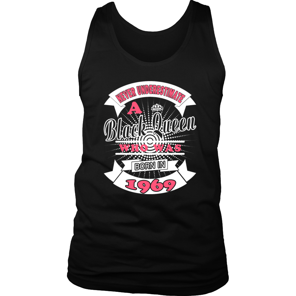 Black Queens Born In 1969 - Funny Birthday T-Shirt