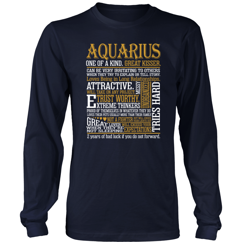 Aquarius One Kind Great Kisser Awesome Zodiac Gift T-Shirt