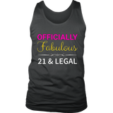21st Birthday T-Shirt For Her, Fabulous 21 & Legal Quotes Hoodie
