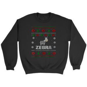 Zebra Ugly Christmas Tee Xmas Holiday Season T-shirt