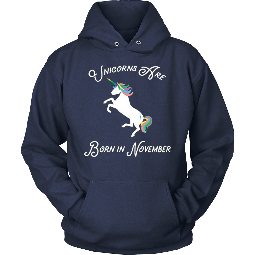 Fancy Magical Unicorns Are Born In November Birthday Shirt