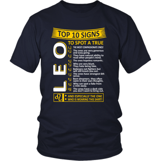 Top 10 Signs To Spot True Leo Zodiac Tshirt
