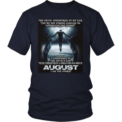 The Devil - born in August - the storm -Woman T-shirt month