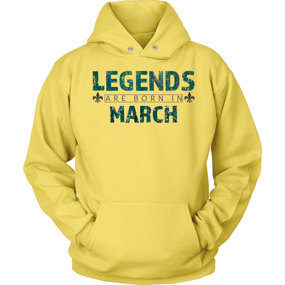 Legends Are Born In March Birthday Gift T Shirt