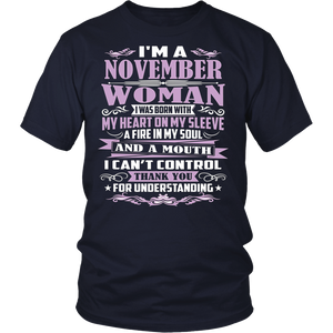 Women's Born in November Birthday T-Shirt Cute Gift Idea Tee