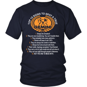 Ten Signs True Gemini Not To Mess With Tshirt