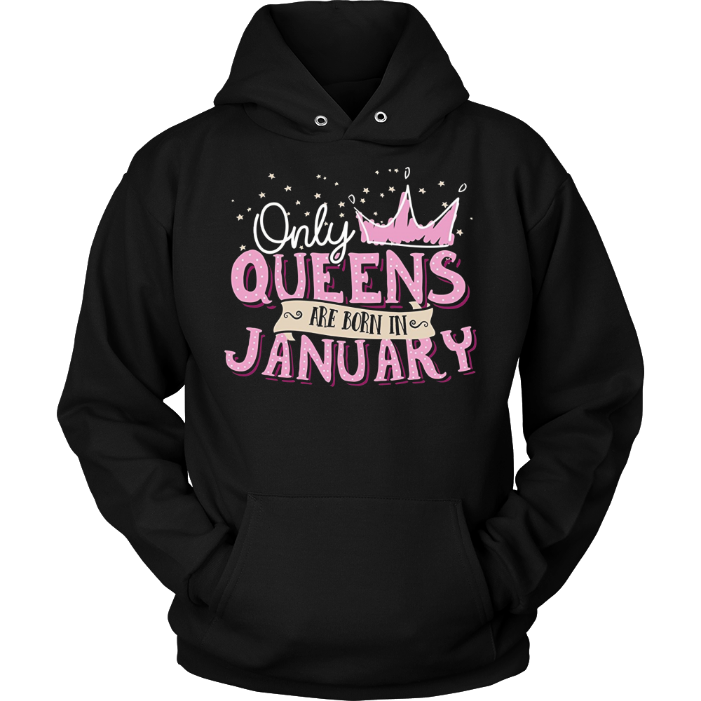 Women's Queens Are Born In January - Birthday T-Shirt
