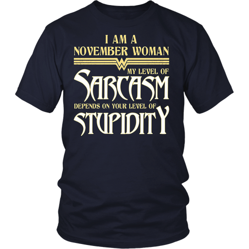 November Woman T-Shirt Girl's & Women's Birthday Gift
