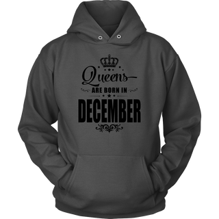 Womens Queens are born in DECEMBER Birthday's Girl White3 T-shirt