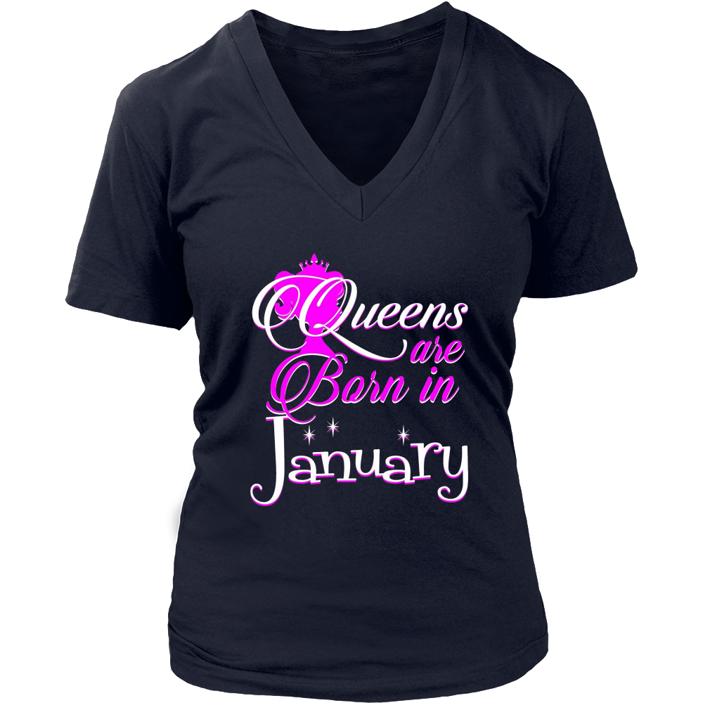 Queens Are Born In January Tshirt