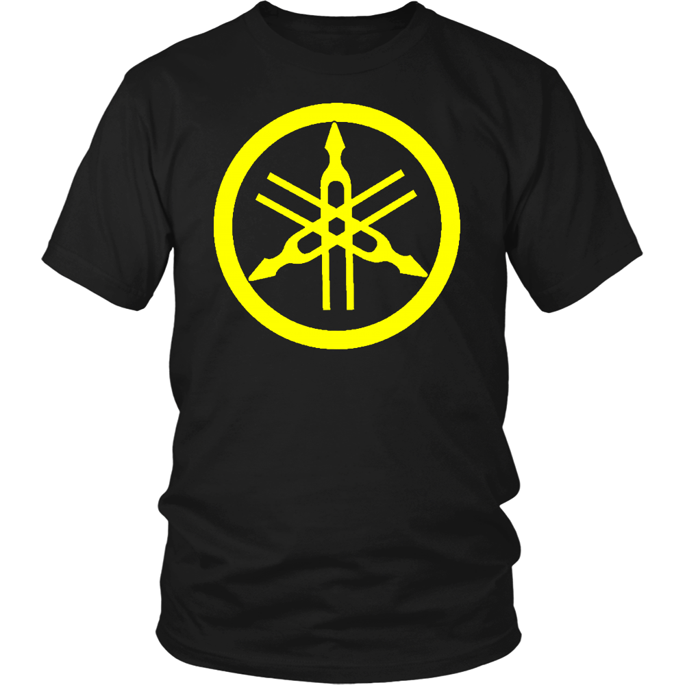 Yamaha Tuning Forks Circle Snowmobile Motorcycle 4 Wheeler Mens T Shirt