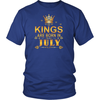 Perfect Kings Are Born In July Birthday Shirt