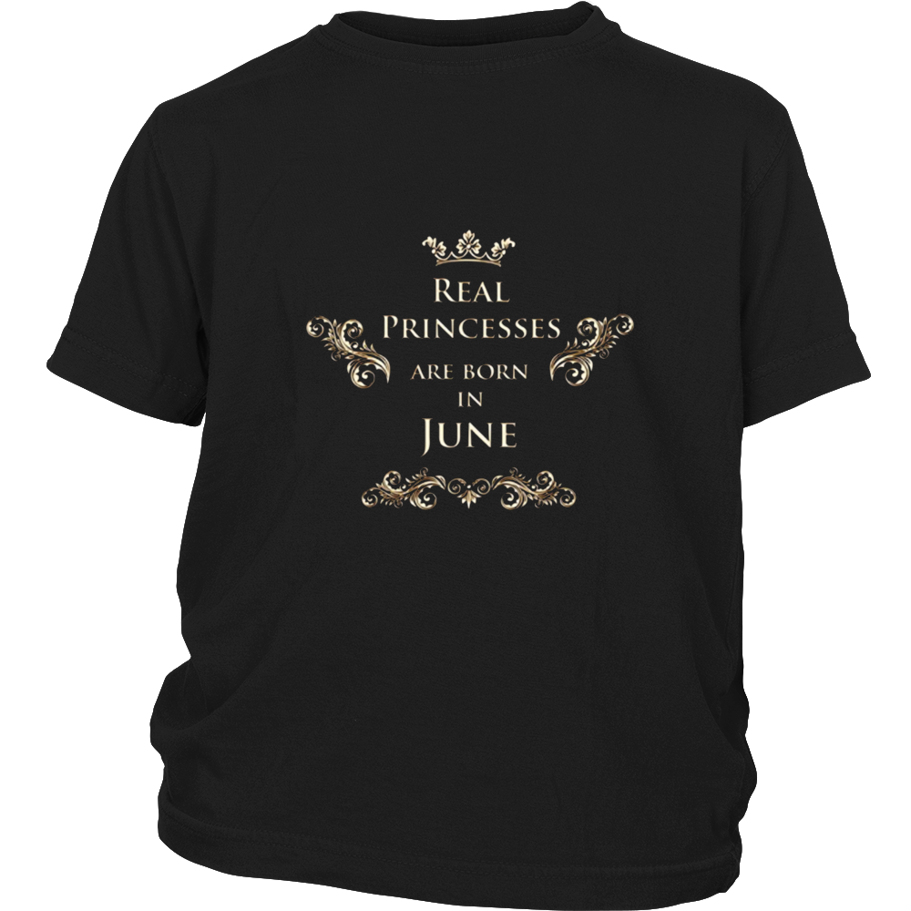 Princesses Are Born In June T-shirt Birthday gift