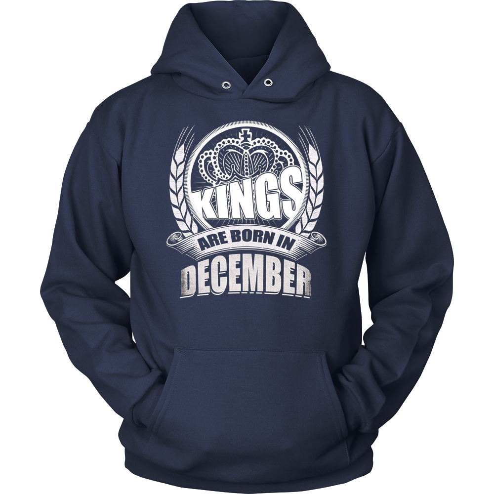 Kings Are Born In December T-Shirt in Navy Black And More
