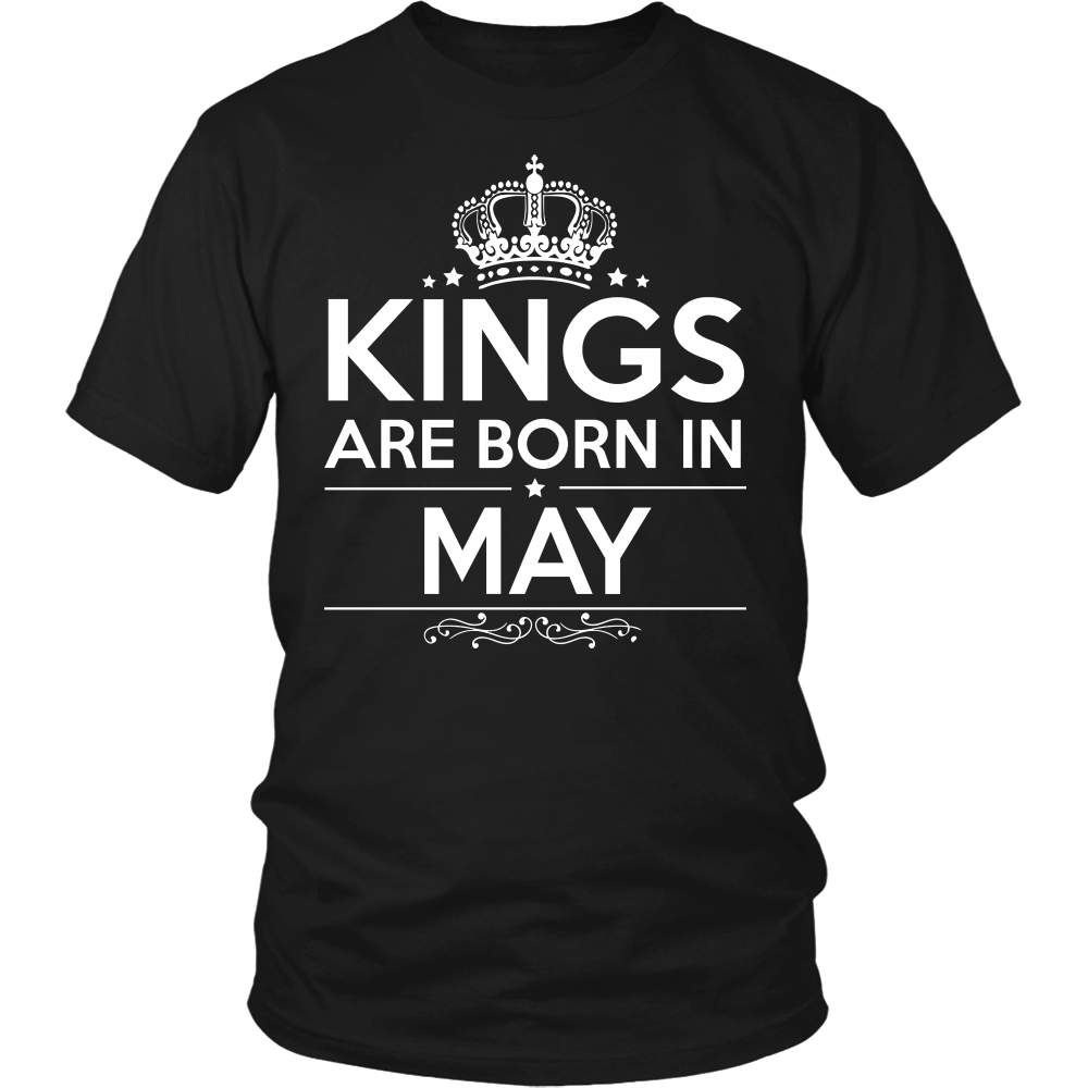 Love Kings Are Born In May Shirt