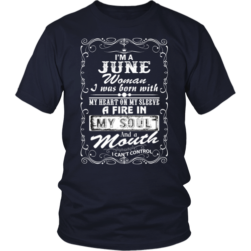 I'm A June Woman T-shirt June Birthday Gifts