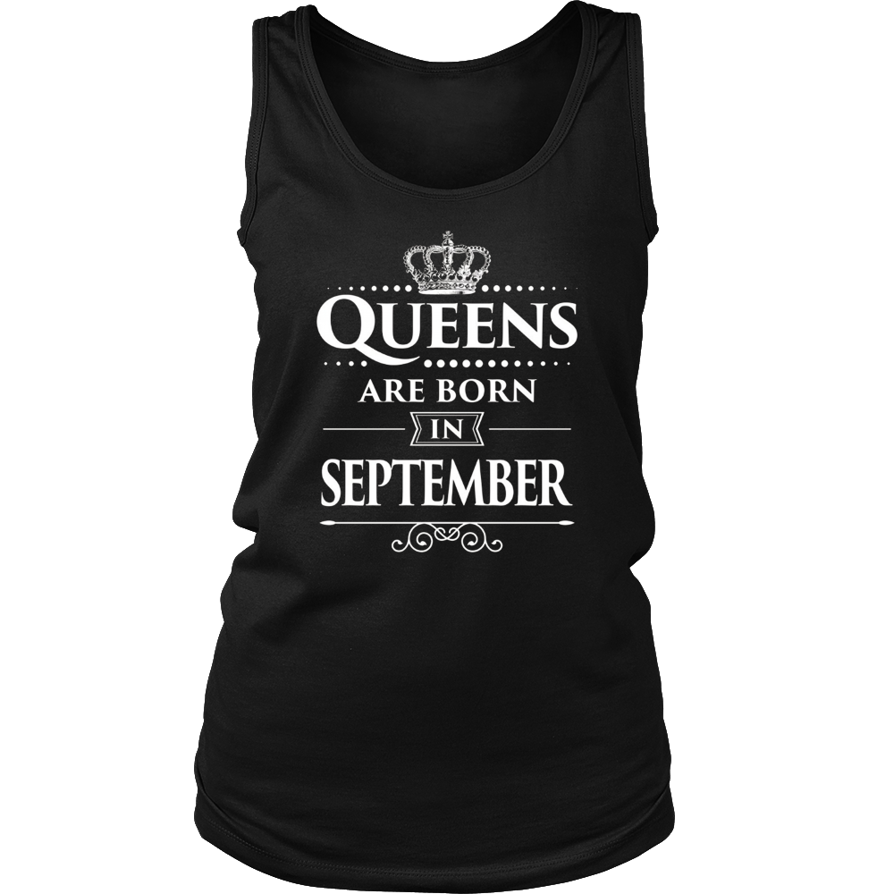 Women's Queens Are Born In September Birthday T-shirt