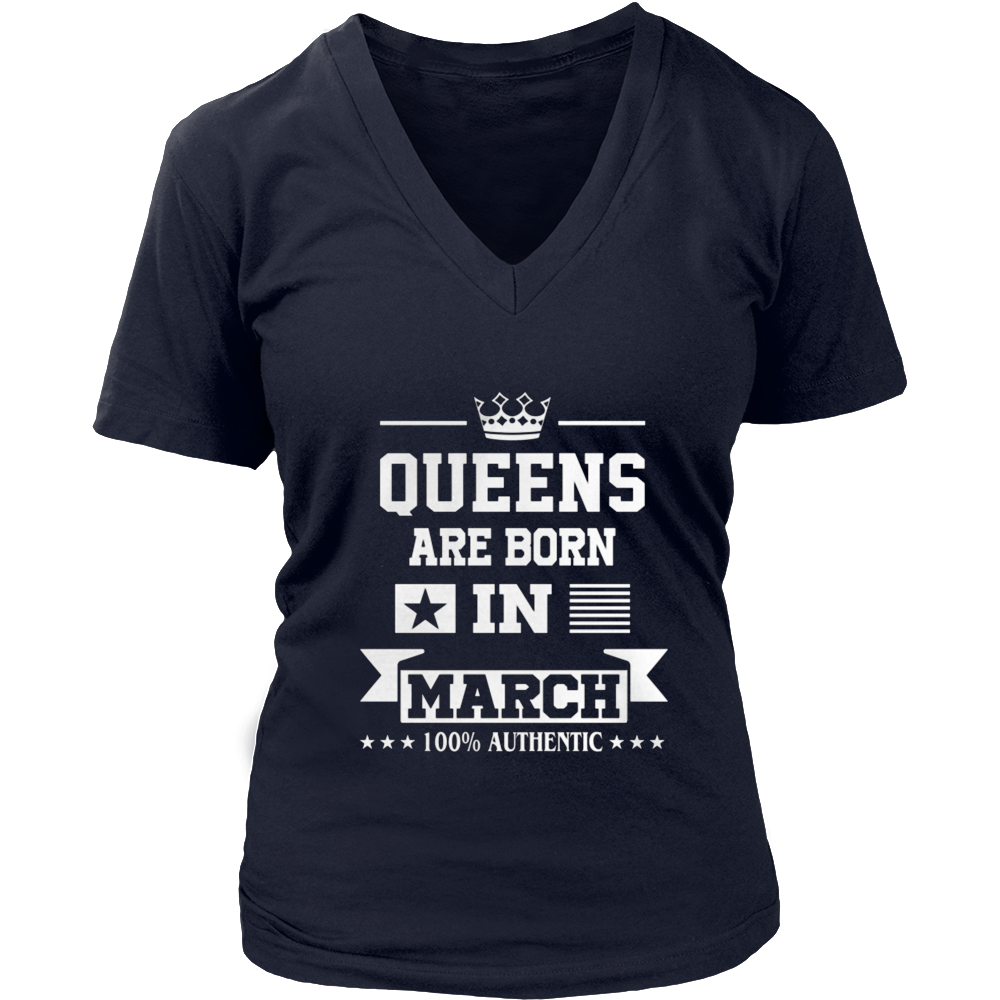Only Queens Are Born in March Stylish T-Shirt