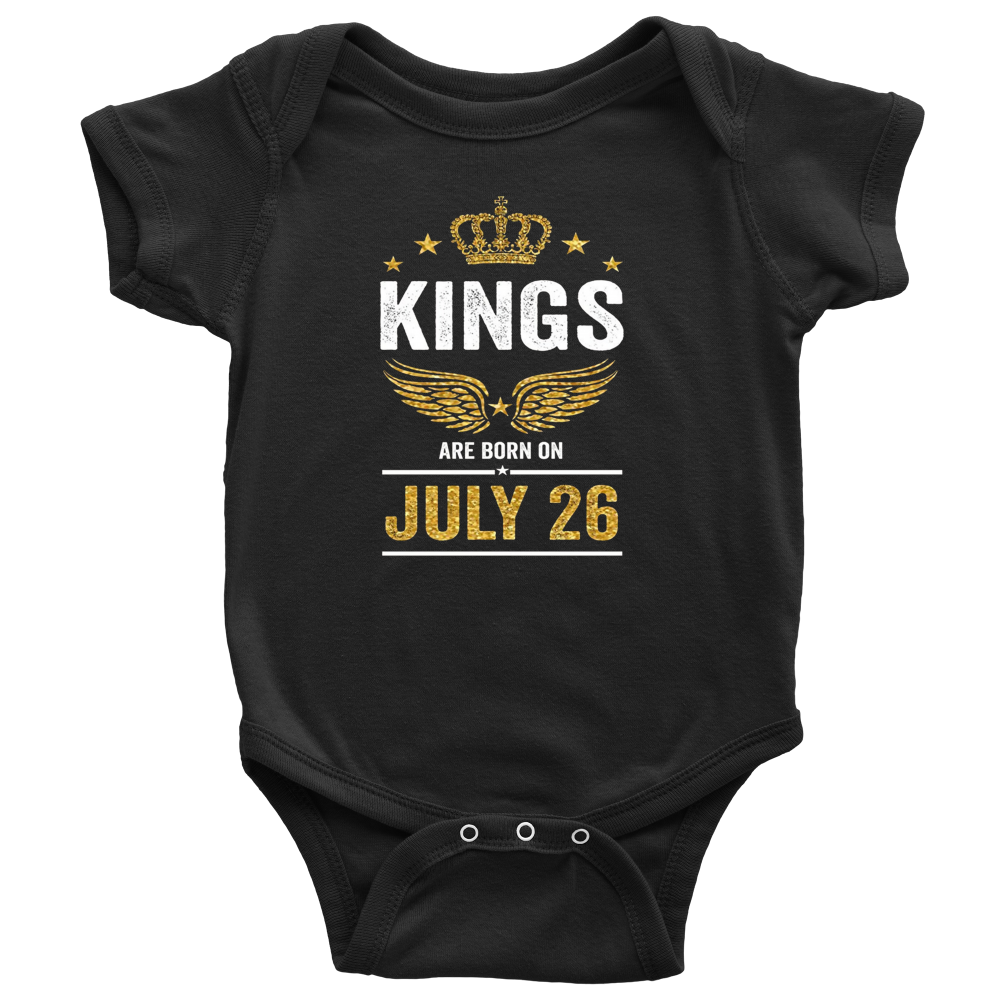 Kings Are Born On July 27 - Birthday TShirt