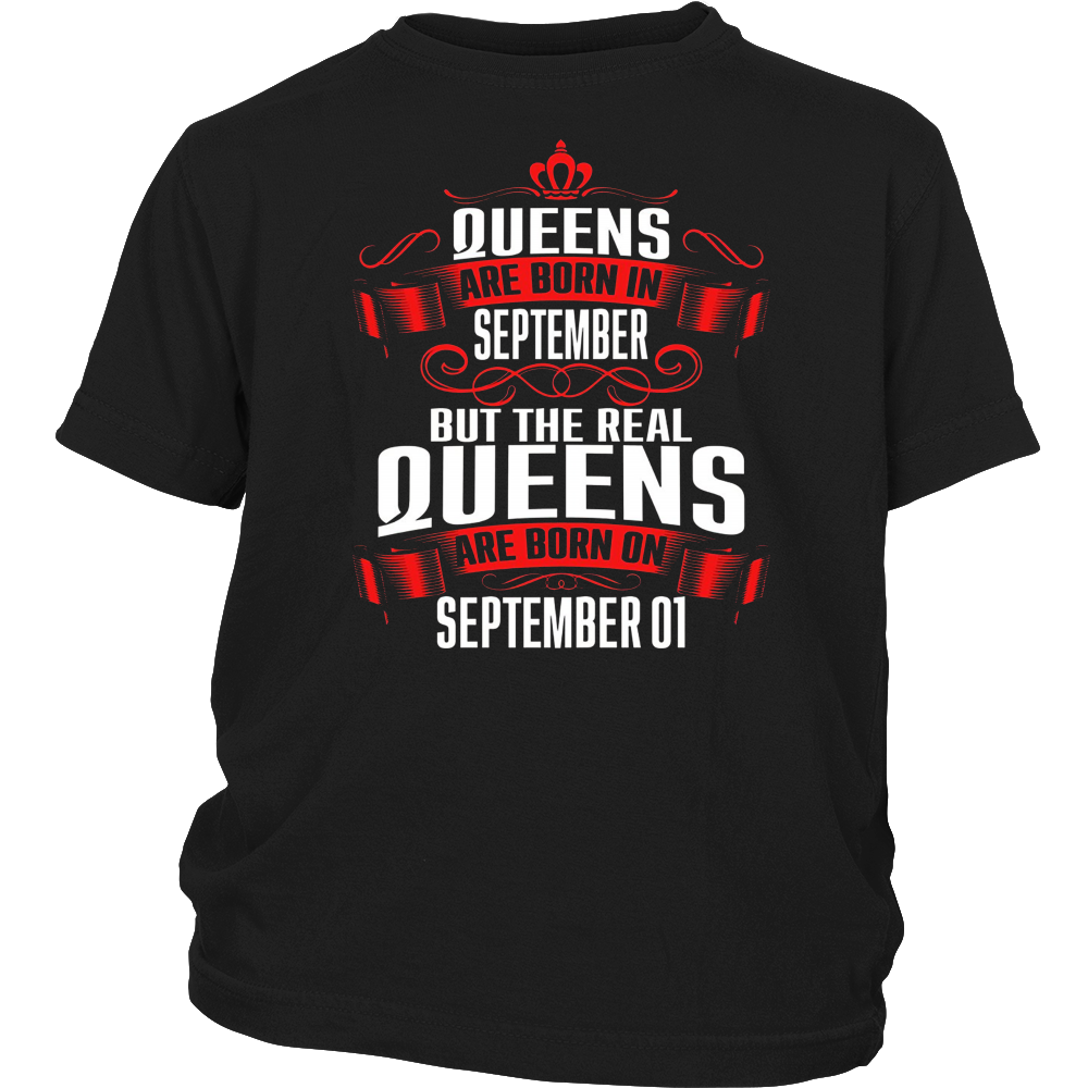 Queens Are Born On September 01 T-Shirt Hoodie