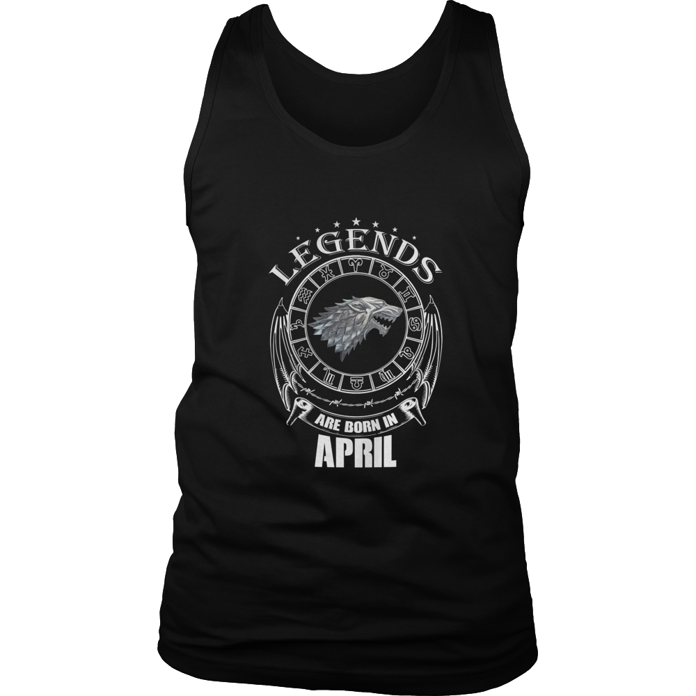 Legends Are Born In April T-Shirt - Top Gold Vintage Edition