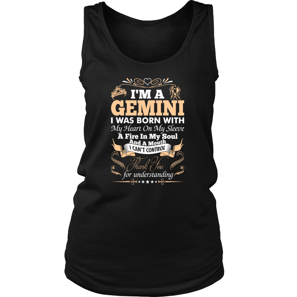 A Gemini I Was Born With My Heart On My Sleeve Tshirt