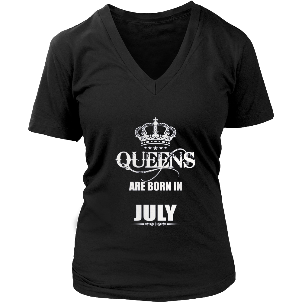 Queens Are Born in July T-Shirt - Perfect for Birthdays