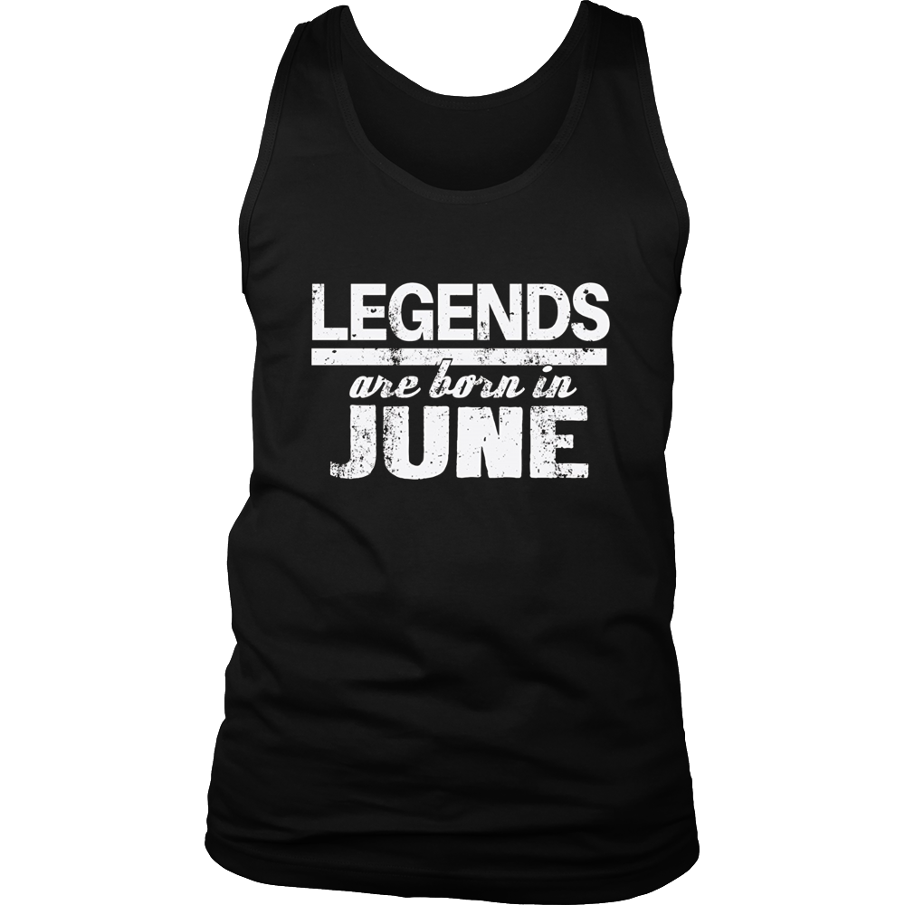 Legends Are Born in June Birthday Gift Shirt 2017