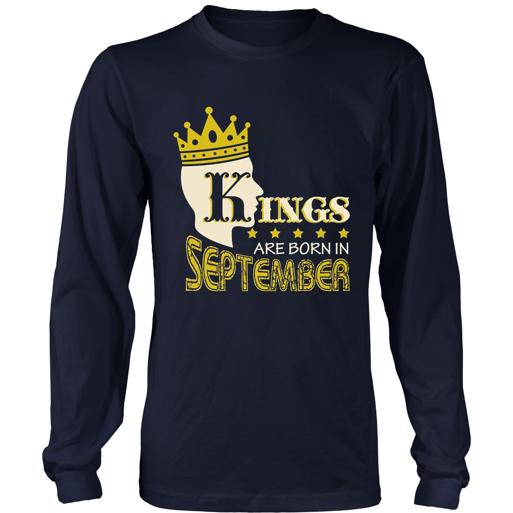 Funny T-Shirt Kings Are Born In September