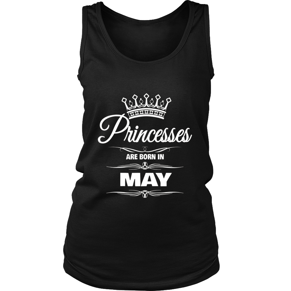 GIRL'S PRINCESSES ARE BORN IN MAY BIRTHDAY NOVELTY T-SHIRT