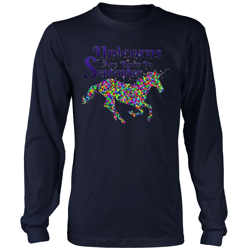 UNICORNS ARE BORN IN SEPTEMBER Cute Unicorn Party T Shirt