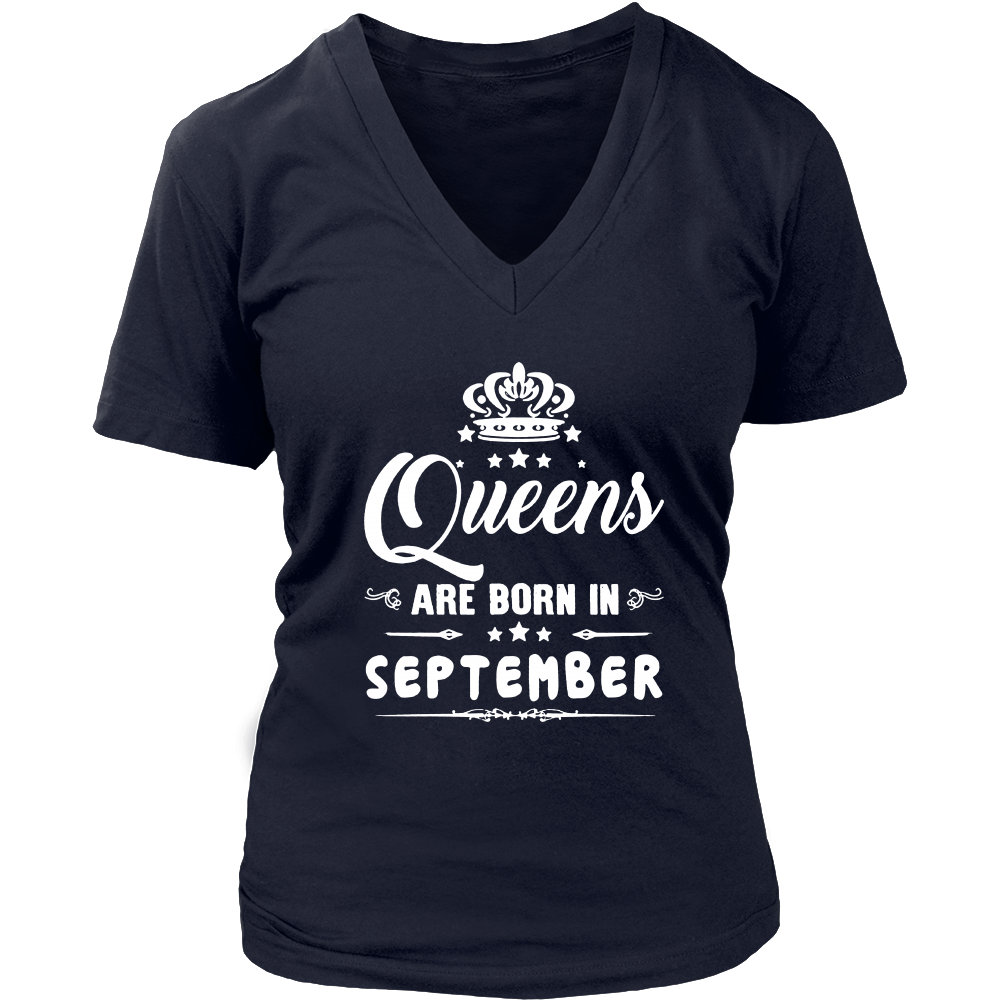 Women's Queens are born in september funny T-shirt
