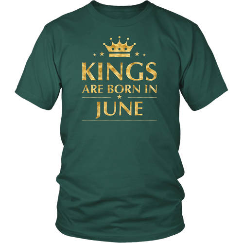 Men's Kings are born in June T-Shirt Gold Foil Edition Shirt