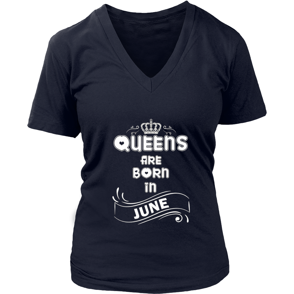 June Birth day girl gift, queens are born in June t-shirt