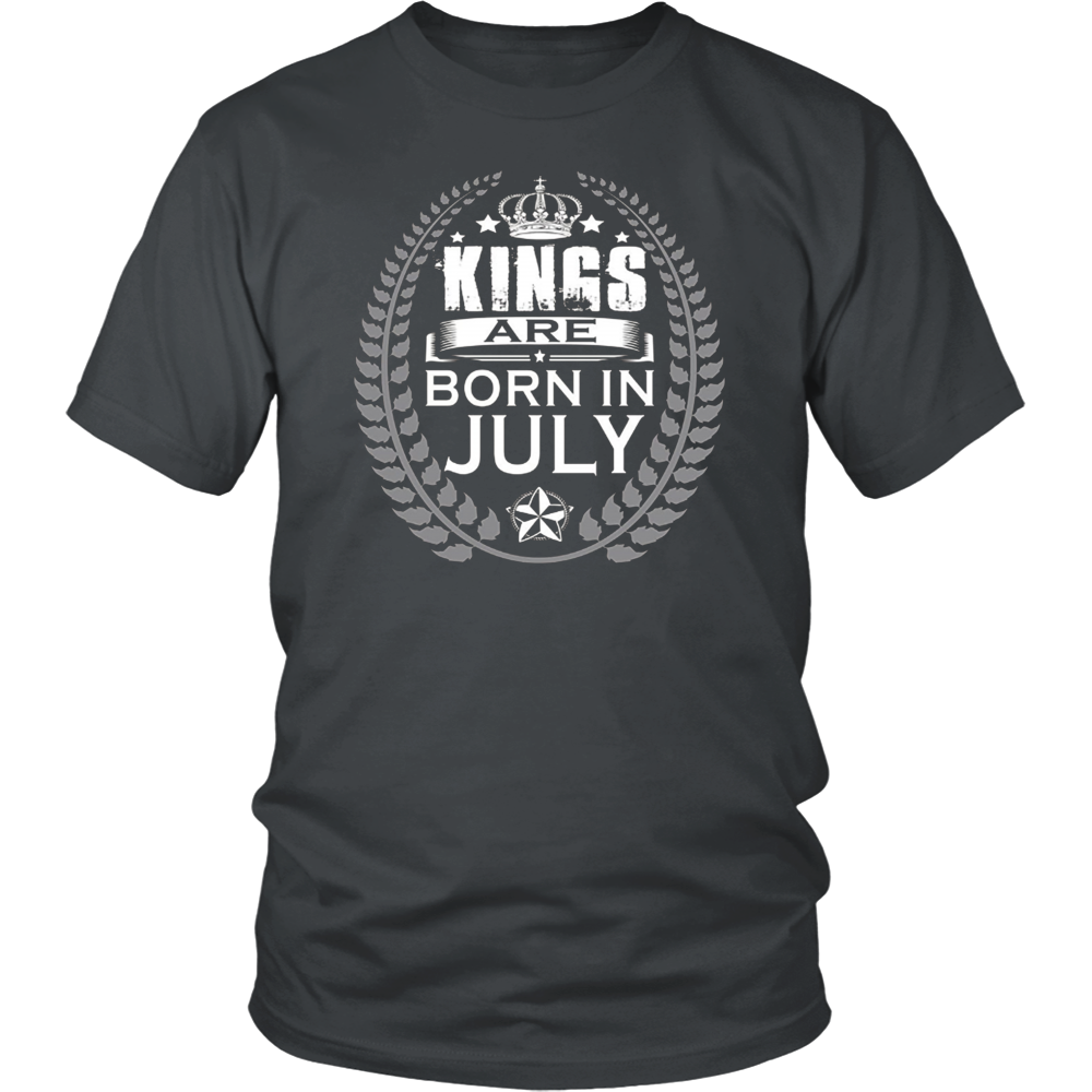 Men's Kings are born in July Tshirt Birthday gift shirt
