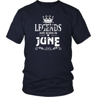 Legends Are Born In June T-shirt Birthday Gift Father's Day