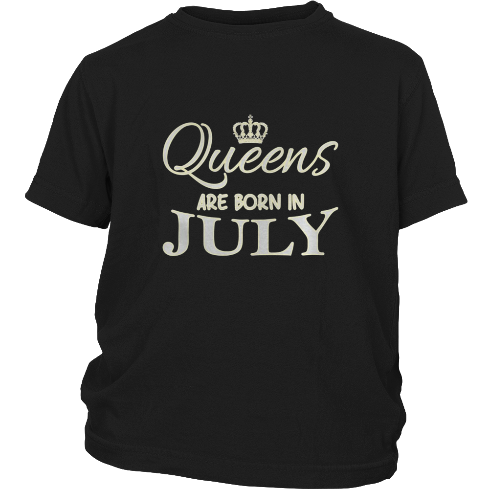 Queens Are Born In July Birthday Gift Bday T-Shirt