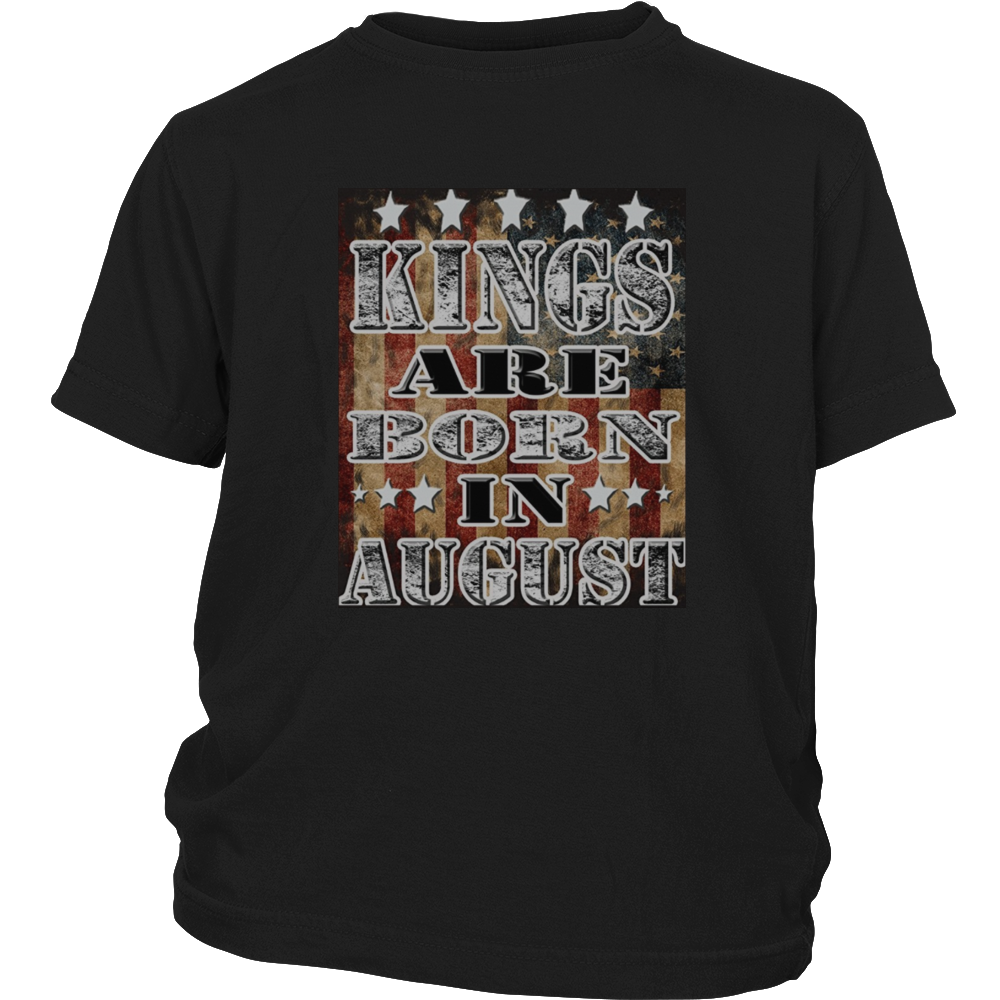 Kings Are Born In August T-Shirt,Birthday,Funny,Gift