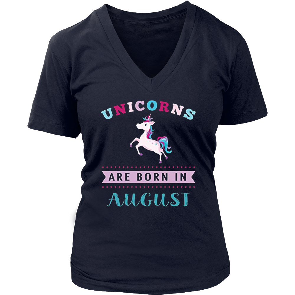 unisex-child Unicorns are Born in August Cute T-shirt Gift Little Girls