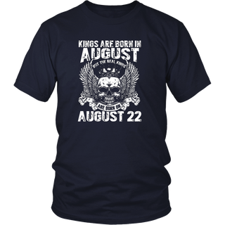 The Real Kings Are Born On August 22nd T-Shirt Leo Zodiac